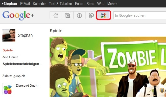 GooglePlus Spielestream