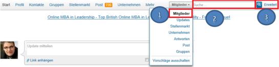 LinkedIn Suche