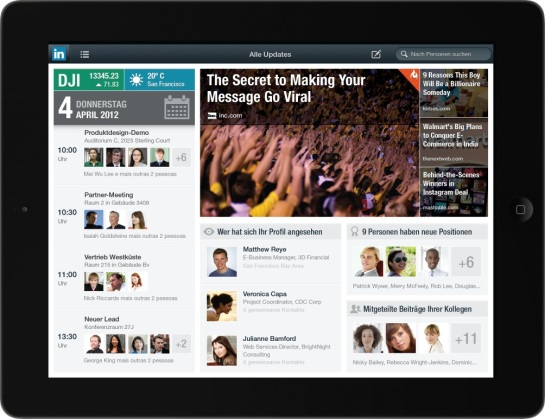 LinkedIn iPad Version